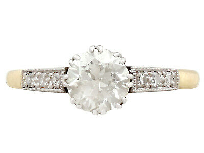 Vintage  0.69 ct Diamond, 18k Yellow Gold Solitaire Engagement Ring, C. 1940