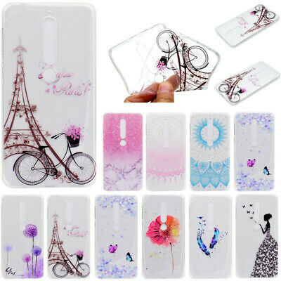 For Nokia 7 Plus/6.1/6 2018 Clear Bumper Shockproof Pattern Slim TPU Cover Case
