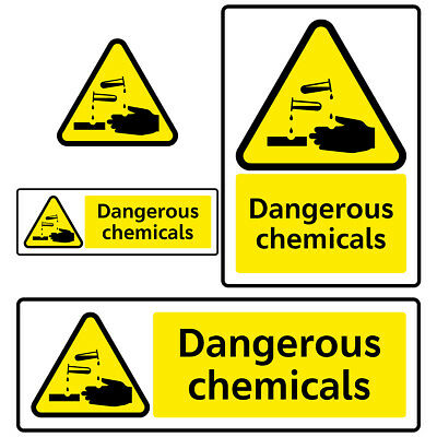 Dangerous Chemicals Hazard Health and Safety Sign Sticker for Factory Industrial