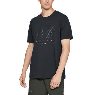 Under Armour Mens Branded Short Sleeved T Shirt Tee Top Black Sports Gym Jogging
