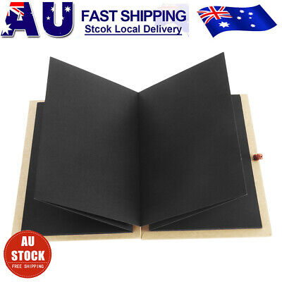 DIY Photo Ablum Kraft Paper Hardcover Accordion Style Book 36 Pages Scrapbook AU