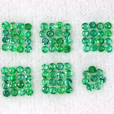 2.53 Cts Natural Top Green Emerald Loose Gemstone Round Cut Lot Untreated Zambia