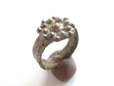 Superb Ancient CELTIC Silver Suspension Small Finger Ring > La Tene Culture*