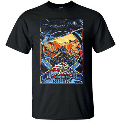 Starship Troopers, movie poster (1997) T-Shirt (BLACK) all sizes S-5XL