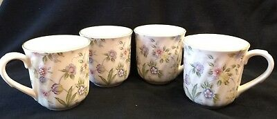 Corona By Andrea Coffee Cups/Mugs Set Of 4 Floral