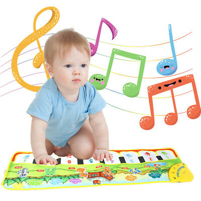 Touch Play Keyboard Musical Music Singing Gym Carpet Mat Toy Best Kids Baby Gift