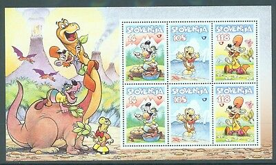 Slovenia 1998 Cartoon Charecters miniature sheet MNH