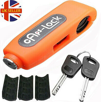 Leopard Handlebar Throttle Grip Lock Motorbike Motorcycle Security Lock orange