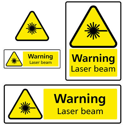 Laser Beam Warning Health and Safety Sign Sticker