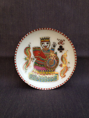 Vintage Michaela Frey Steinbock (?) Austria King of Clubs Enamel Pin Dish Tray
