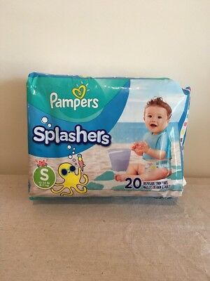 NEW Pampers Splashers Small Diapers 13-24 lb 20 Disposable Swim Pants 6-11 kg