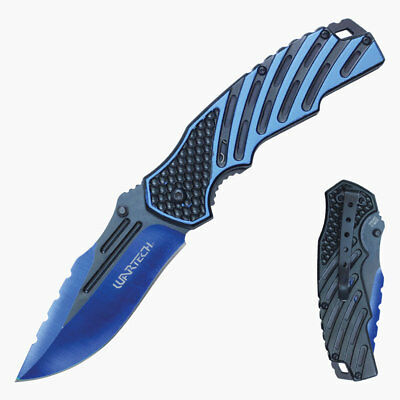 Wartech Spring Assisted Opening Bi-Color Blade Knife