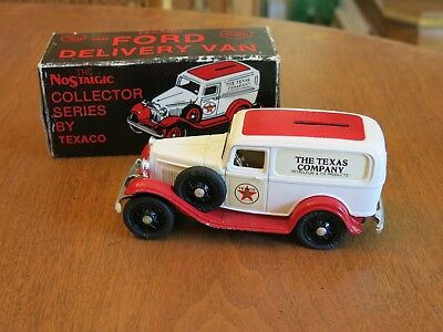 Ertl Texaco 1932 Ford Delivery Van #3 Die-cast Coin Bank Model Nostalgic Series