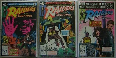 Raiders of the Lost Ark #1-3 Marvel Comics (3) Comic Complete Set 1981 VF/NM