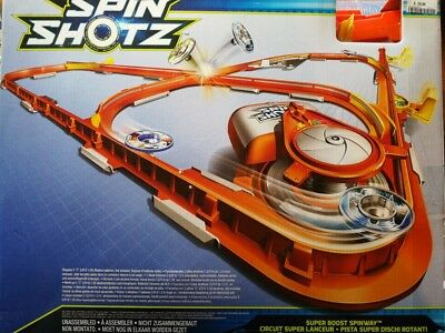 Mattel Hot Wheels Spinshotz Spin Shotz Super Boost Spinway Rennbahn in OVP