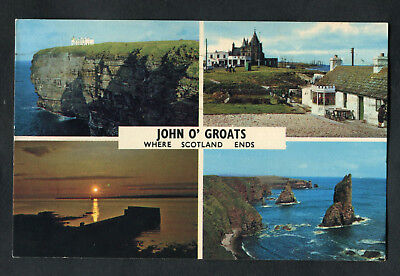 Posted 1981: Multiviews of John O'Groats: Hotel & Last House: Stroma