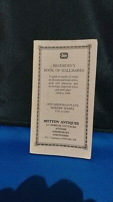 Bradbury's Book of Hallmarks - Guide to marks of origin Silver Gold Platinum