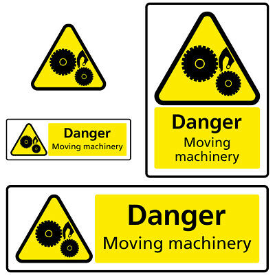 Moving Machinery Danger Hazard Health and Safety Sign Sticker