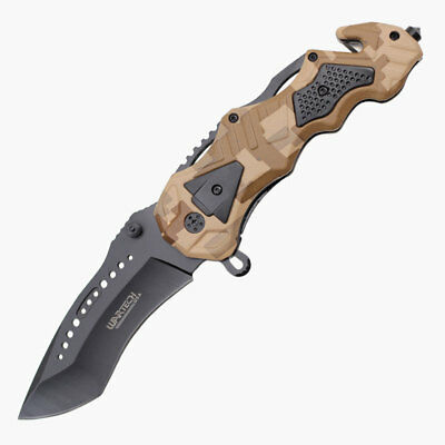 Wartech Spring Assisted Opening Geometric Rescue Knife