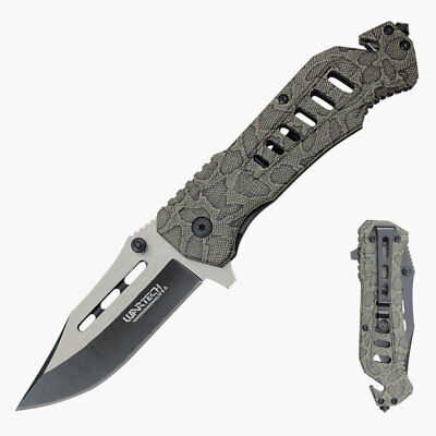 Wartech Spring Assisted Opening Rescue Knife