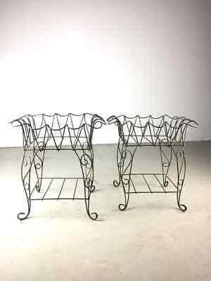 Victorian Old Vintage Metal French Wire Flower Plant Stands