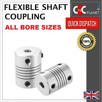 Flexible Shaft Coupling Coupler Stepper Motor CNC 3D Printer 4, 5, 6.35, 8, 10mm