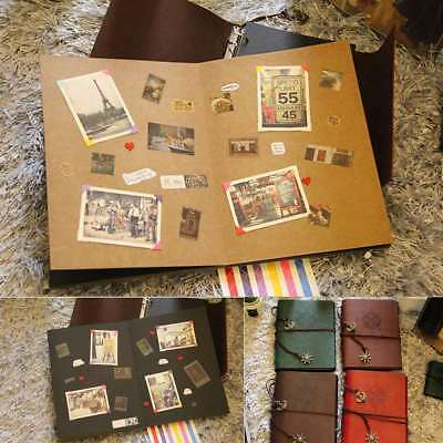 DIY Scrapbook Vintage Leather Photo Album Pictures Storage Wedding Birthday Gift