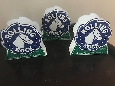 Rolling Rock Napkin Holders (3) Brand New
