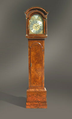Walnut longcase clock