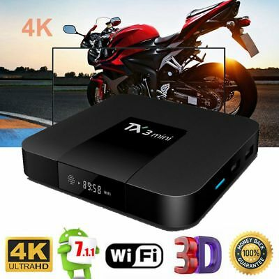 Tx3 Mini Smart Tv Boîte Quad-Core Android 7.1 4k 1 Go + 8go 2go+16go 2,4 G Wi-Fi