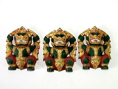 Very Beautiful 3 Antique The Figure of Giant Cheap Don't Miss