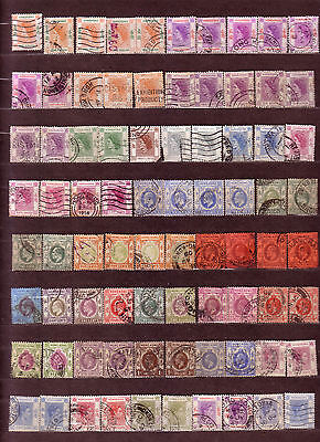 Old Collection of Hong Kong Stamps Used 80 Stamps