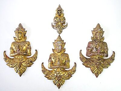 Very Beautiful 4 Antique The Figure of Deva Cheap Don't Miss