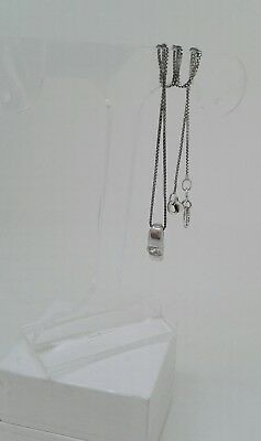 Hallmarked Silver Pendant set with Quality Zirconia on a Fine Silver Box Chain