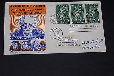 Usa 1958 Illustrated Gardening And Horticulture Issues N First Day Cover To Aust