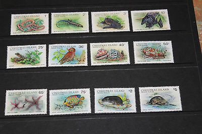 Christmas Island 1987 Wildlife Issues Set Of 12 To $5.00 Very Fine M/n/h