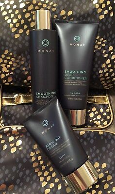 Monat Effortless Style System Smoothing Shampoo/Conditioner & Blow Out Cream NEW