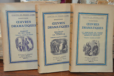 Oeuvres dramatiques - Shakspeare 3 volumes.-