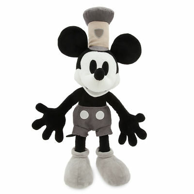 Disney Store Classic 1928 Style Mickey Mouse Steamboat Willie Plush Doll NWT