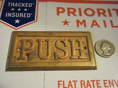 Vintage Brass Door Push Sign Plate