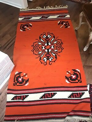 Vintage Native American Hand Woven Rug