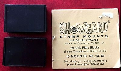 Showgard Stamp Mounts 25X40mm Commens-Vertical -120, 8 Plate Block 4 - New