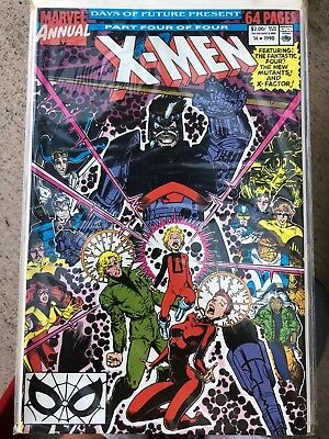 X-Men Annual #14 (1990, Marvel) 1st Appearance Gambit VF-NM Days Future Present