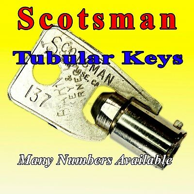 Select-A-Key: Scotsman Tubular Keys, Base #137, Cut To Several Numbers - Vending