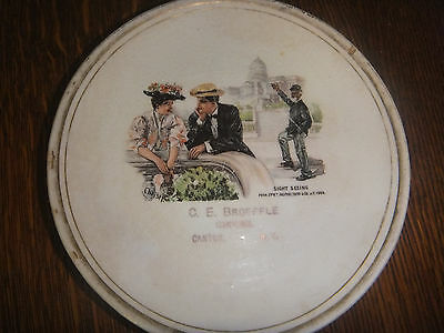 "Canton, NY 1906 C. E. BROEFFLE, GROCER Plate - 1979 - 6.5"" Diameter"