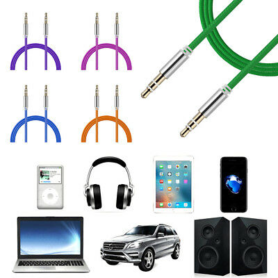 Jack Male to Male Car Aux Auxiliary Cord Stereo Audio Cable for Phone iPod