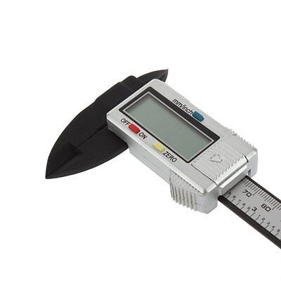 "6"" 150mm Electronic Digital Vernier Caliper Carbon Fiber Micrometer Gauge LCD"