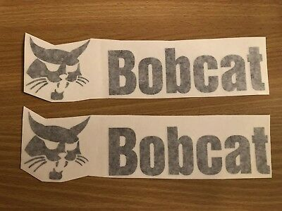 "Bobcat Skid Steer 9"" Decal Sticker Vinyl  (set of 2)- Black"