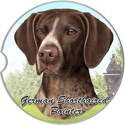 German Shorthaired Pointer Sandstone Absorbent Dog Breed Car Coaster