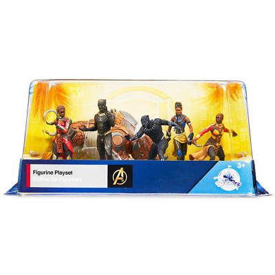 New Disney Store Marvel BLACK PANTHER Avengers 6 Piece Figurines  Playset NRFB